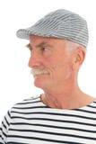 Portret teruggetrokken mens Stock Afbeelding