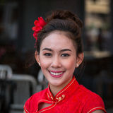 Portret Thais Meisje Bangkok, Thailand stock afbeeldingen