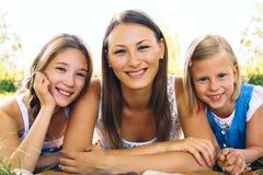 Portret trzy dziewczyny Zdjęcie Royalty Free
