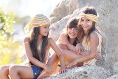 Portret trzy dziewczyny Obraz Royalty Free