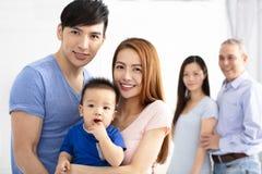 Portret Trzy pokoleń azjata rodzina Obraz Royalty Free