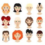 Portret twarzy twórcy set ilustracji