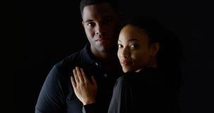 Portret twee jonge Afrikaanse Amerikanen royalty-vrije stock afbeelding