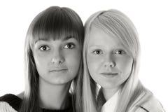 Portret twee meisjes Royalty-vrije Stock Afbeelding