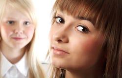 Portret twee meisjes Royalty-vrije Stock Afbeeldingen