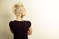 portret tylna kobieta obrazy stock