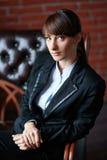 Portret uśmiechnięta biznesowa kobieta Obrazy Royalty Free