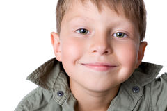 Portret uśmiechnięta chłopiec Zdjęcia Royalty Free