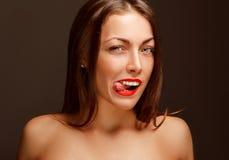 Portret uśmiechnięta dziewczyna Obraz Stock