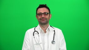 Portret Uśmiechnięta Młoda samiec lekarka zbiory
