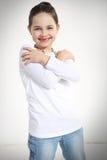 Portret uśmiechnięta mała dziewczynka Zdjęcia Royalty Free