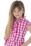 Portret uśmiechnięte dziewczyny Fotografia Stock