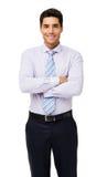 Portret Uśmiechnięty biznesmen Z rękami Krzyżować zdjęcie stock
