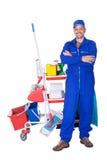 Portret Uśmiechnięty Cleaner Obrazy Royalty Free