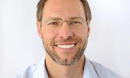 Portret uśmiechnięty mężczyzna Zdjęcia Royalty Free