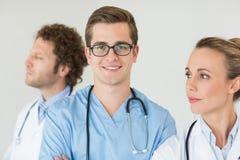 Portret ufna męska pielęgniarka Zdjęcia Royalty Free