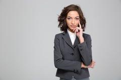 Portret ufna piękna biznesowa kobieta Fotografia Stock