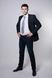 Portret ufny biznesowy mężczyzna w pełnym przyroscie Fotografia Stock
