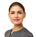 Portret Ufny Młody bizneswoman Zdjęcie Royalty Free