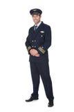 Portret ufny pilot obraz royalty free