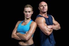 Portret ufny silny mężczyzna i kobieta Zdjęcie Stock