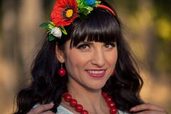 Portret ukraińska kobieta Zdjęcie Stock