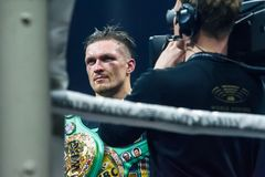 Portret ukraiński fachowy bokser Oleksandr Usyk Zdjęcie Royalty Free