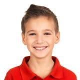 Portret urocza młoda szczęśliwa chłopiec Obrazy Royalty Free