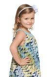 Portret urocza mała dziewczynka obrazy stock
