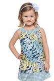 Portret urocza mała dziewczynka zdjęcia royalty free