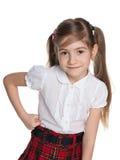 Portret urocza mała dziewczynka obraz royalty free