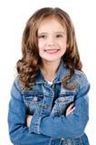 Portret urocza uśmiechnięta mała dziewczynka obraz stock