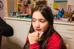 Portret van 10 éénjarigenmeisje Stock Afbeelding
