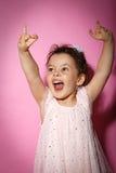 Portret van 3 éénjarigenmeisje op zwarte achtergrond Royalty-vrije Stock Afbeelding