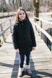 Portret van 10 éénjarigenmeisje in openlucht Royalty-vrije Stock Afbeelding
