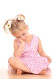 Portret van 4 jaar oud meisjes Royalty-vrije Stock Afbeelding
