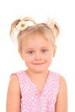 Portret van 4 jaar oud meisjes Royalty-vrije Stock Foto's