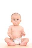 Portret van 6 van het babymaanden meisje Stock Foto's