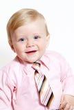Portret van aanbiddelijke babyzakenman stock afbeeldingen