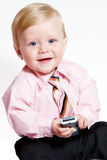 Portret van aanbiddelijke babyzakenman Royalty-vrije Stock Afbeelding