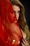 Portret van aantrekkelijke buikdanser Royalty-vrije Stock Afbeelding