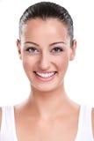 Portret van aantrekkelijke glimlachende vrouw Stock Foto's