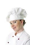 Portret van aantrekkelijke kokvrouw Royalty-vrije Stock Afbeeldingen