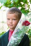 Portret van aardig weinig schooljongen Stock Afbeelding