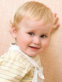 Portret van aardige baby stock afbeeldingen