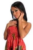 Portret van Afrikaanse Amerikaanse Vrouw Royalty-vrije Stock Fotografie
