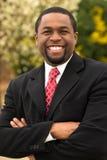 Portret van Afrikaanse Amerikaanse zakenlieden die een overeenkomst maken Stock Fotografie