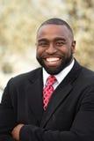 Portret van Afrikaanse Amerikaanse zakenlieden die een overeenkomst maken Royalty-vrije Stock Fotografie