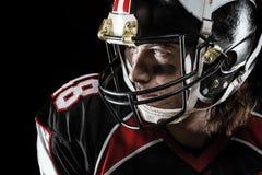 Portret van Amerikaanse voetballer Royalty-vrije Stock Foto