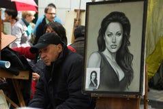 Portret van Angelina Jolie stock foto's